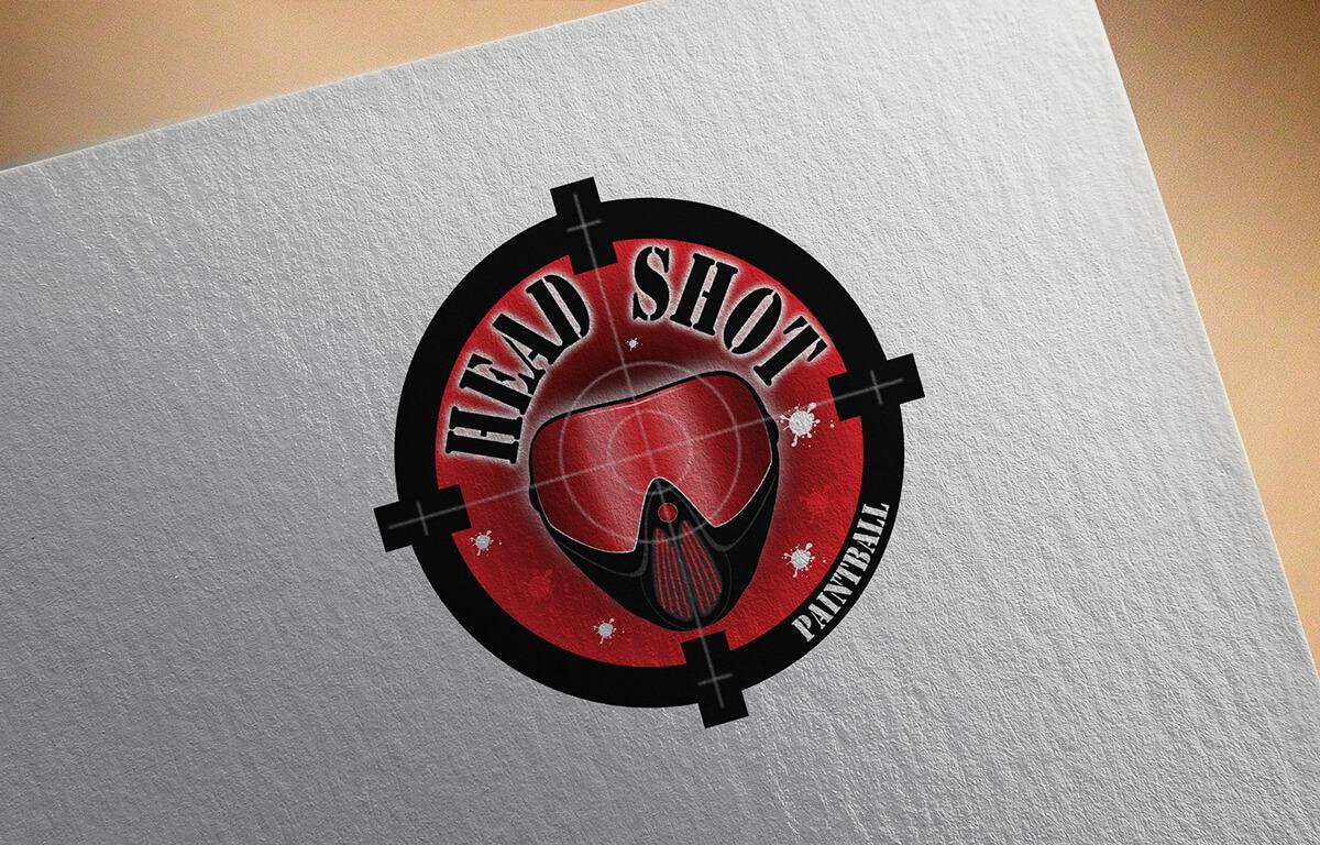 Head Shot Paintball - Logo   Way2Start - Design & Digital Agency