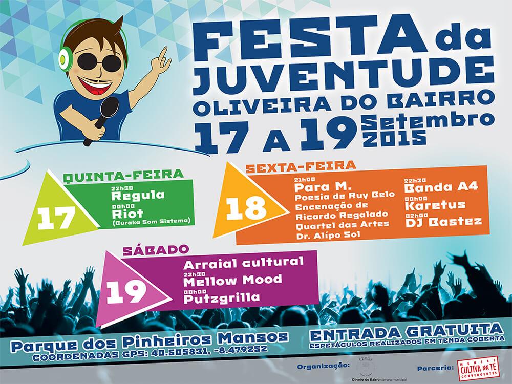 Festa da Juventude de Oliveira do Bairro - Outdoor 4 x 3 meters | Way2Start - Design & Digital Agency