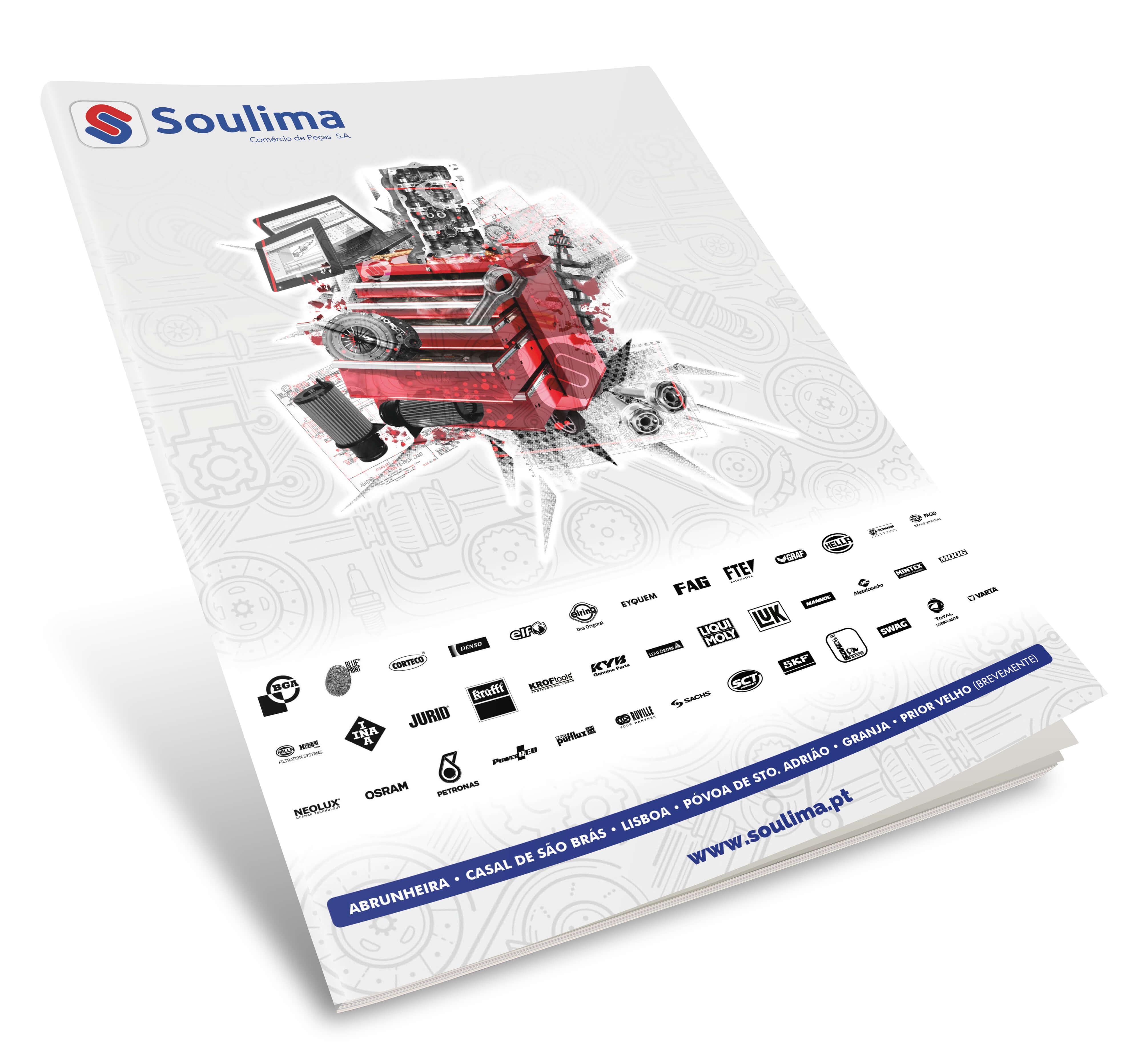 Soulima - Comércio de Peças - Mockup Brochure Soulima - Cover | Way2Start - Design & Digital Agency