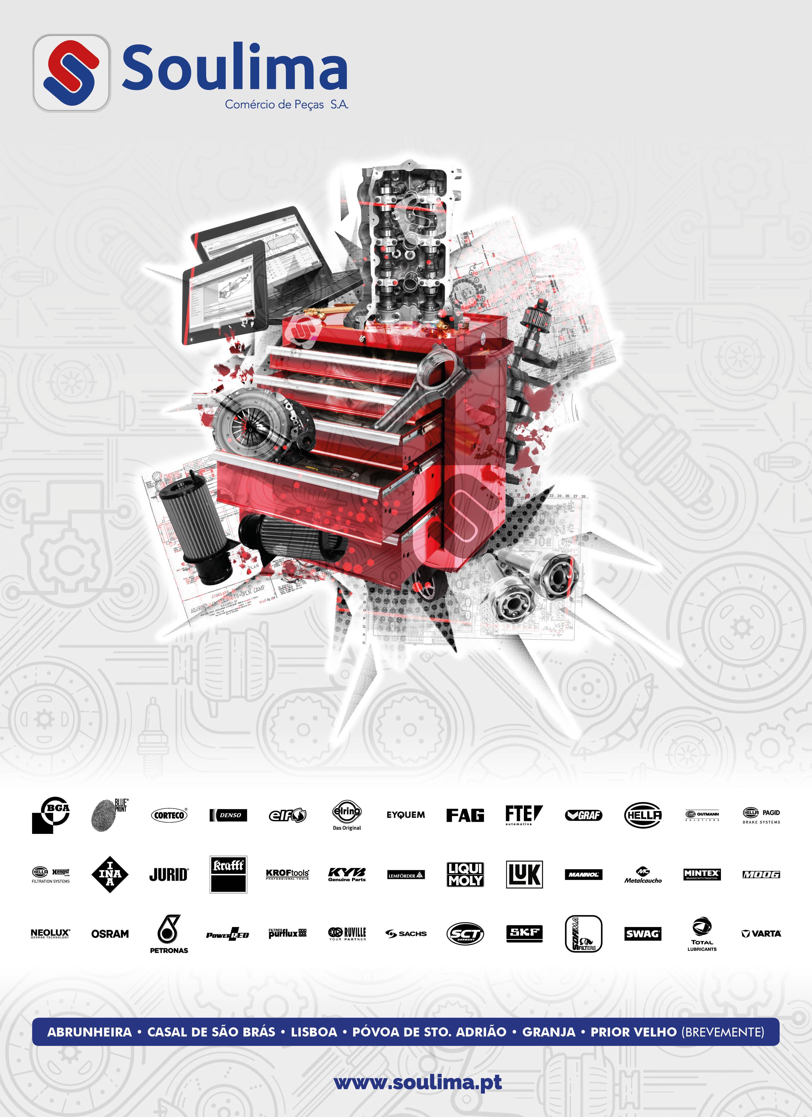 Soulima - Comércio de Peças - Brochure Design Soulima - Cover | Way2Start - Design & Digital Agency