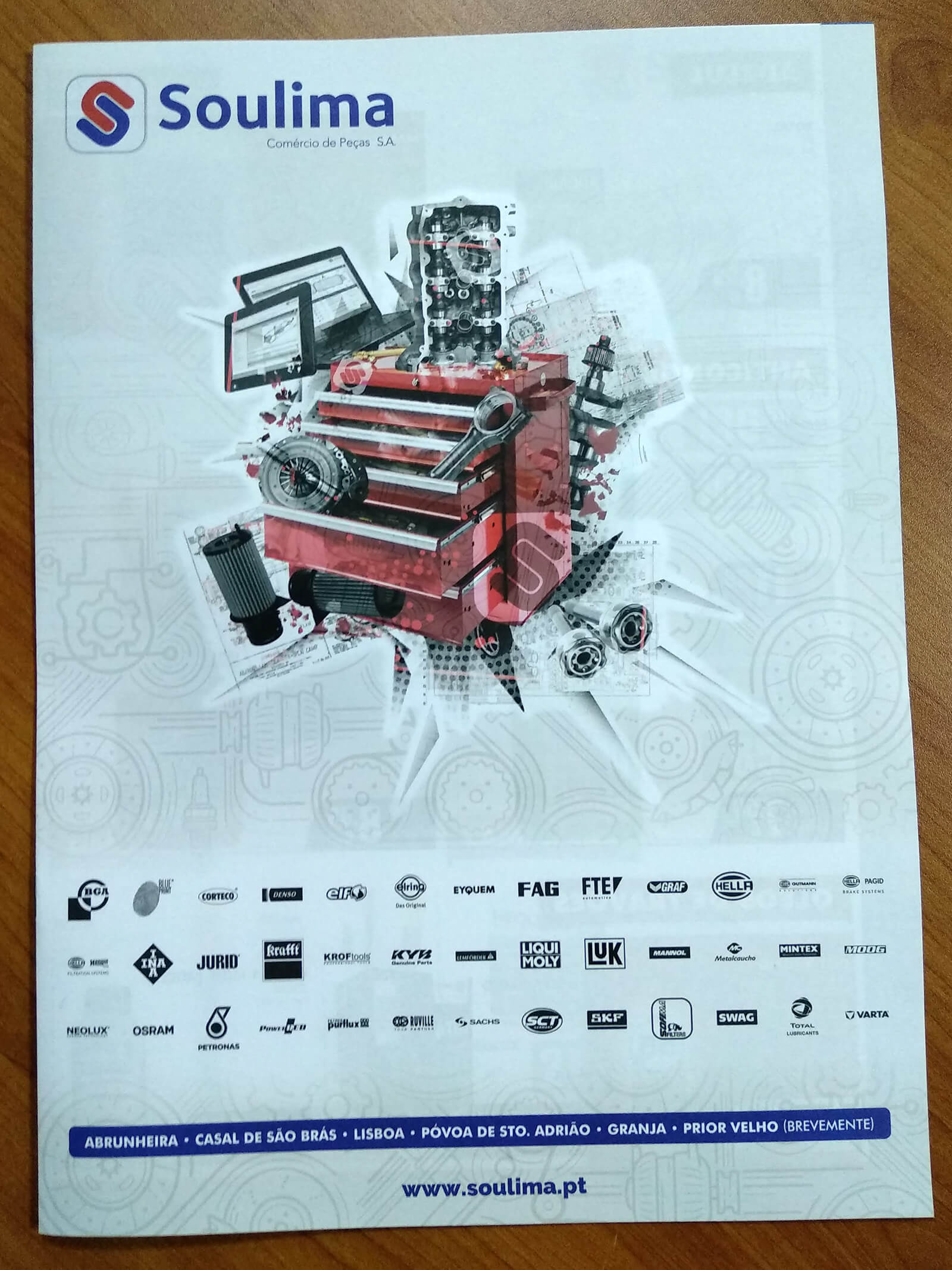 Soulima - Comércio de Peças - Folheto Impresso Soulima - Capa | Way2Start - Design & Digital Agency