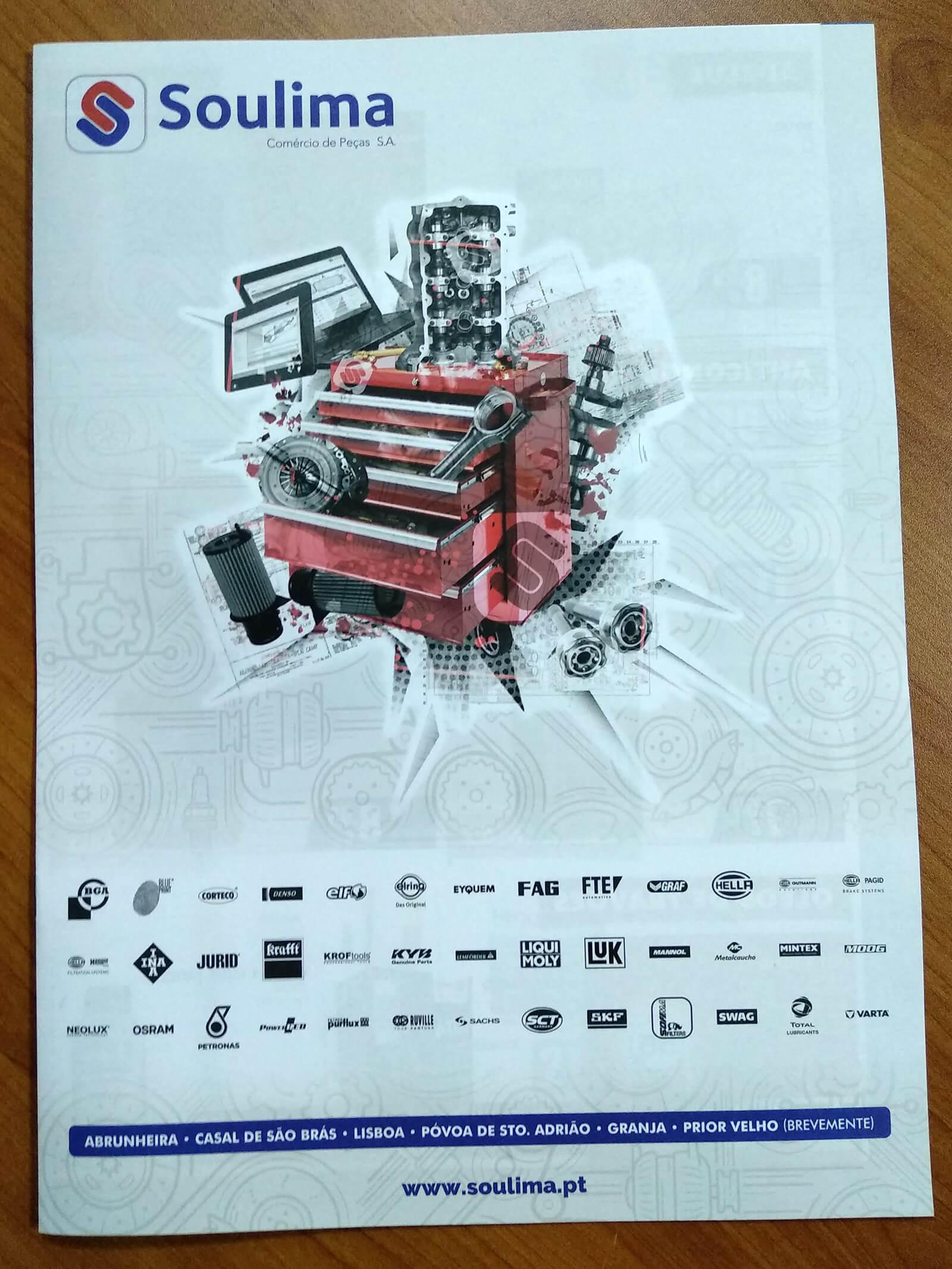 Soulima - Comércio de Peças - Printed Brochure Soulima - Cover | Way2Start - Design & Digital Agency