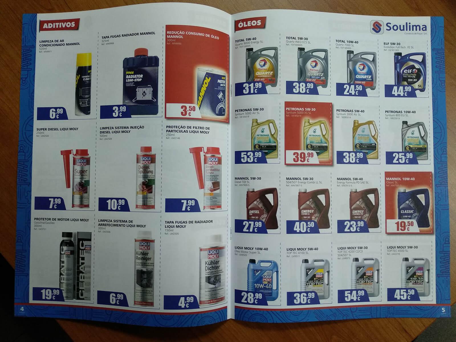 Soulima - Comércio de Peças - Folheto Impresso Soulima - Interior | Way2Start - Design & Digital Agency