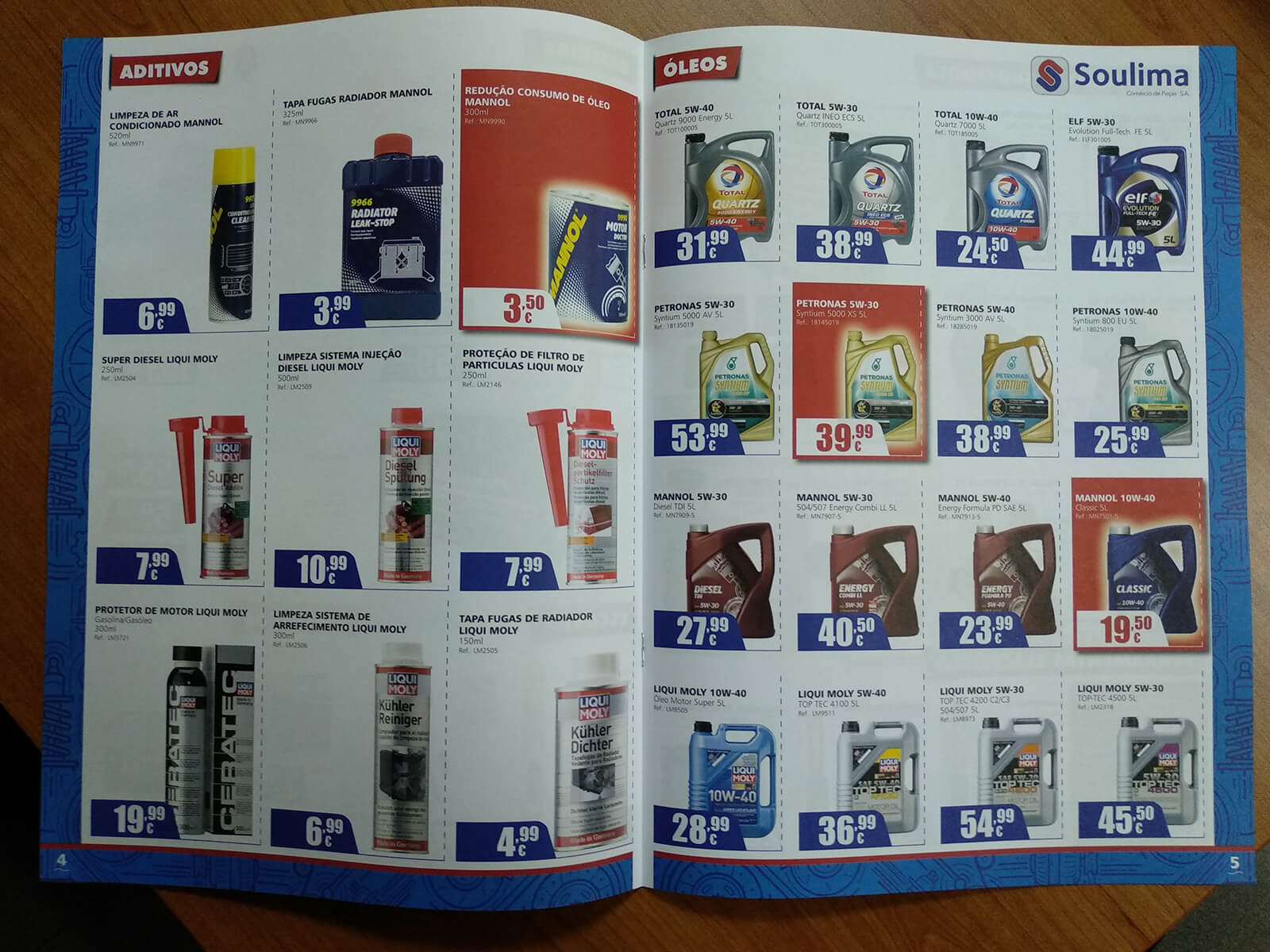 Soulima - Comércio de Peças - Printed Brochure Soulima - Interior | Way2Start - Design & Digital Agency