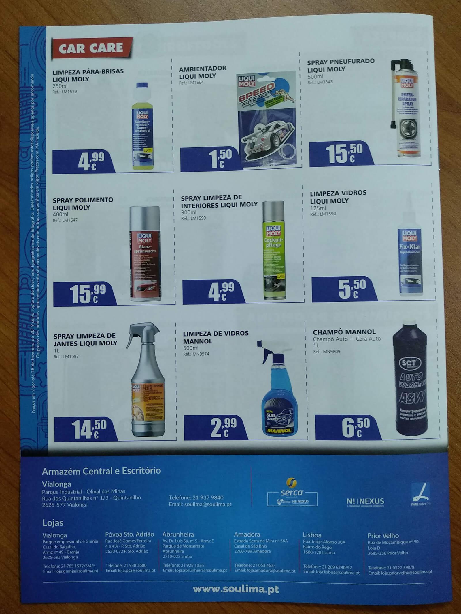 Soulima - Comércio de Peças - Folheto Impresso Soulima - Contra Capa | Way2Start - Design & Digital Agency