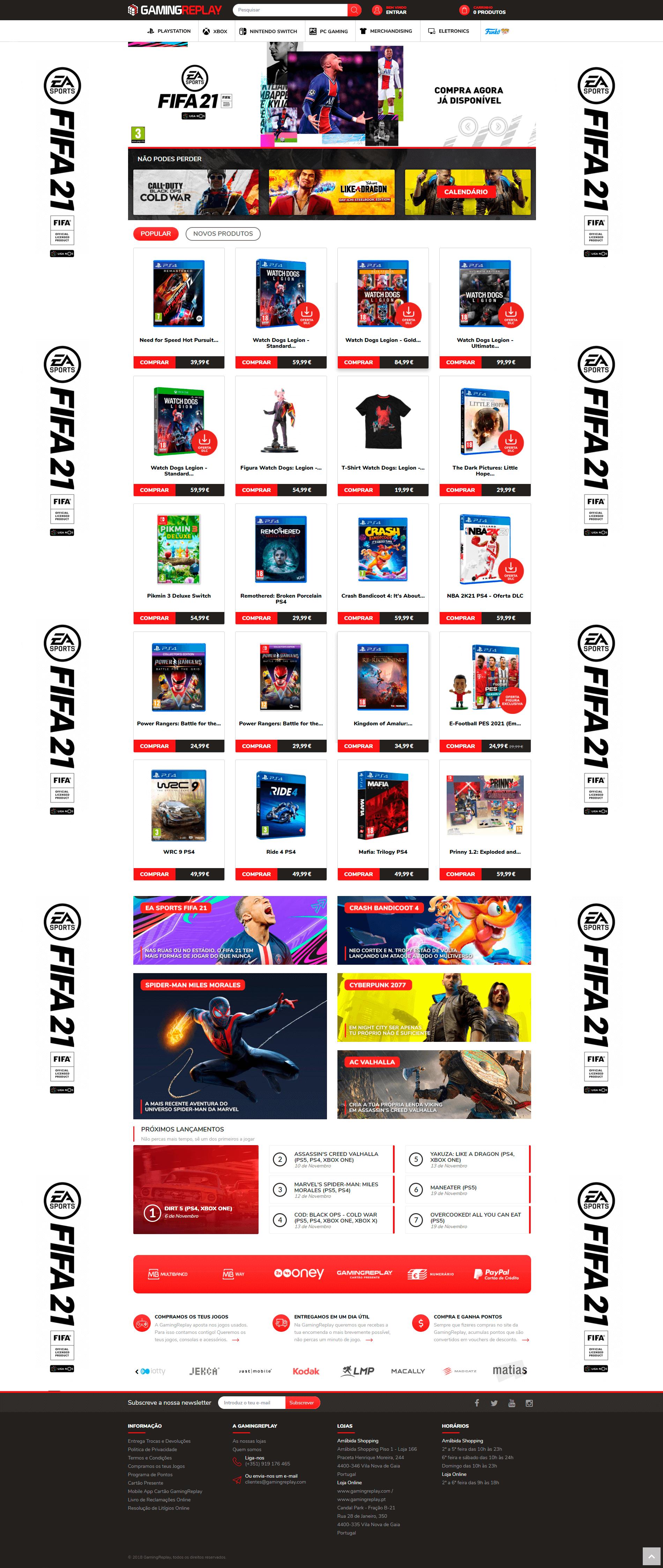 GamingReplay - Homepage | Way2Start - Design & Digital Agency